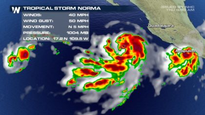 Tropical Storm Norma Forms in the Pacific