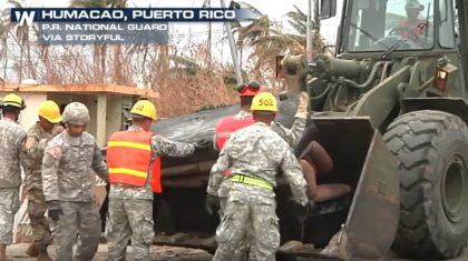 Puerto Rico National Guard Remove Wreckage, Deliver Supplies