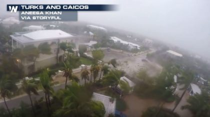 Hurricane Irma Brings Strong Winds to Turks and Caicos