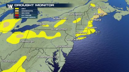 Dry Weather Continues for Mid-Atlantic, Northeast