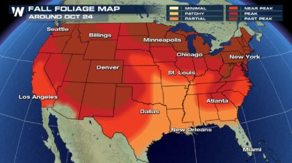 Wheres The Peak Fall Color Now WeatherNation - Us foliage map