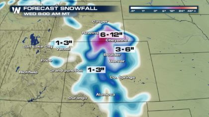 Denver Set to See First Snow of the Season