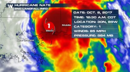 Hurricane Nate Officially Makes Two Landfalls
