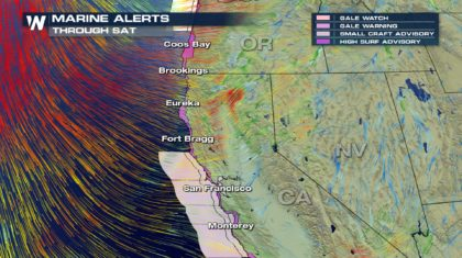 High Surf to Batter West Coast Into The Weekend