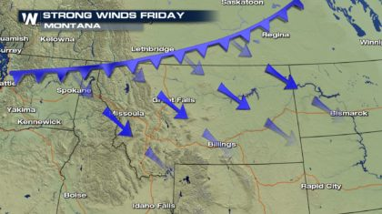 Strong Winds for Montana Friday and Saturday