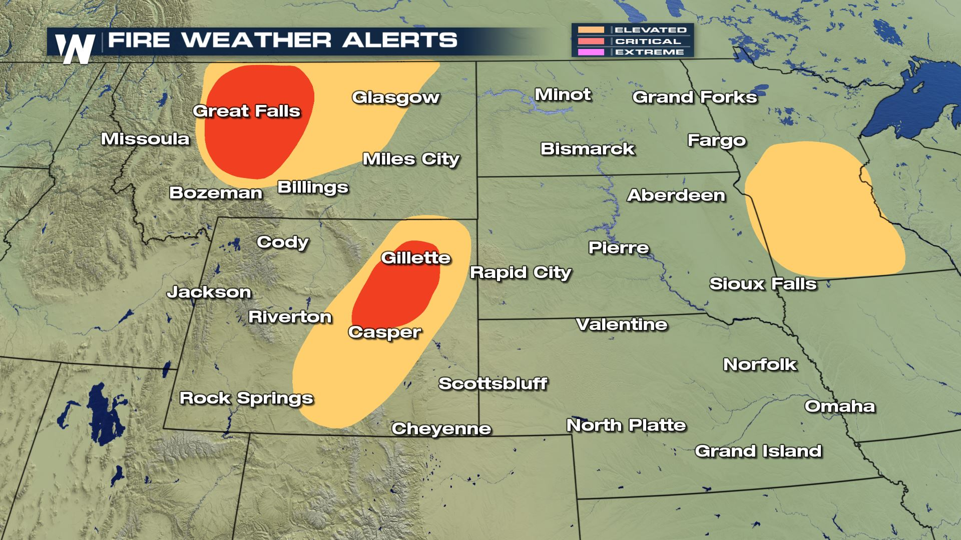 Critical Fire Weather Conditions for Montana and Wyoming - WeatherNation