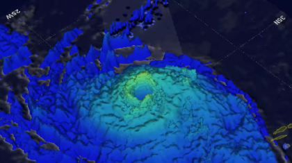 3D Look at Hurricane Ophelia Lashing Ireland from NASA