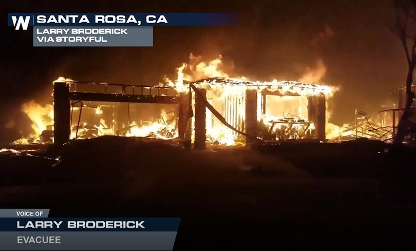 Santa Rosa Man Shares His Story About Escaping From His Burning Neighborhood