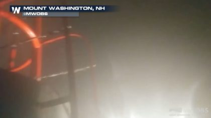 130 mph Winds Recorded at Mount Washington Observatory