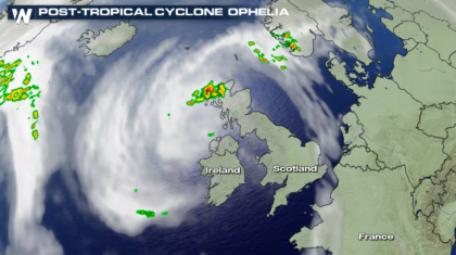 Former Major Hurricane Ophelia Batters Ireland
