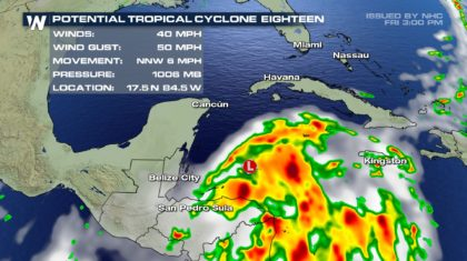 High Chance of Tropical Formation in the Caribbean Sea