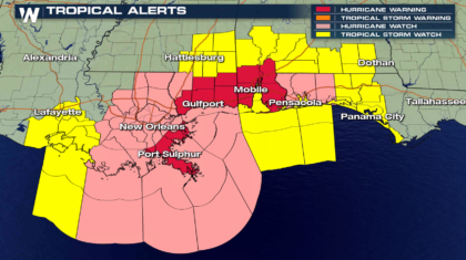 Hurricane Warning Issued Ahead of Nate for Louisiana, Mississippi, Alabama