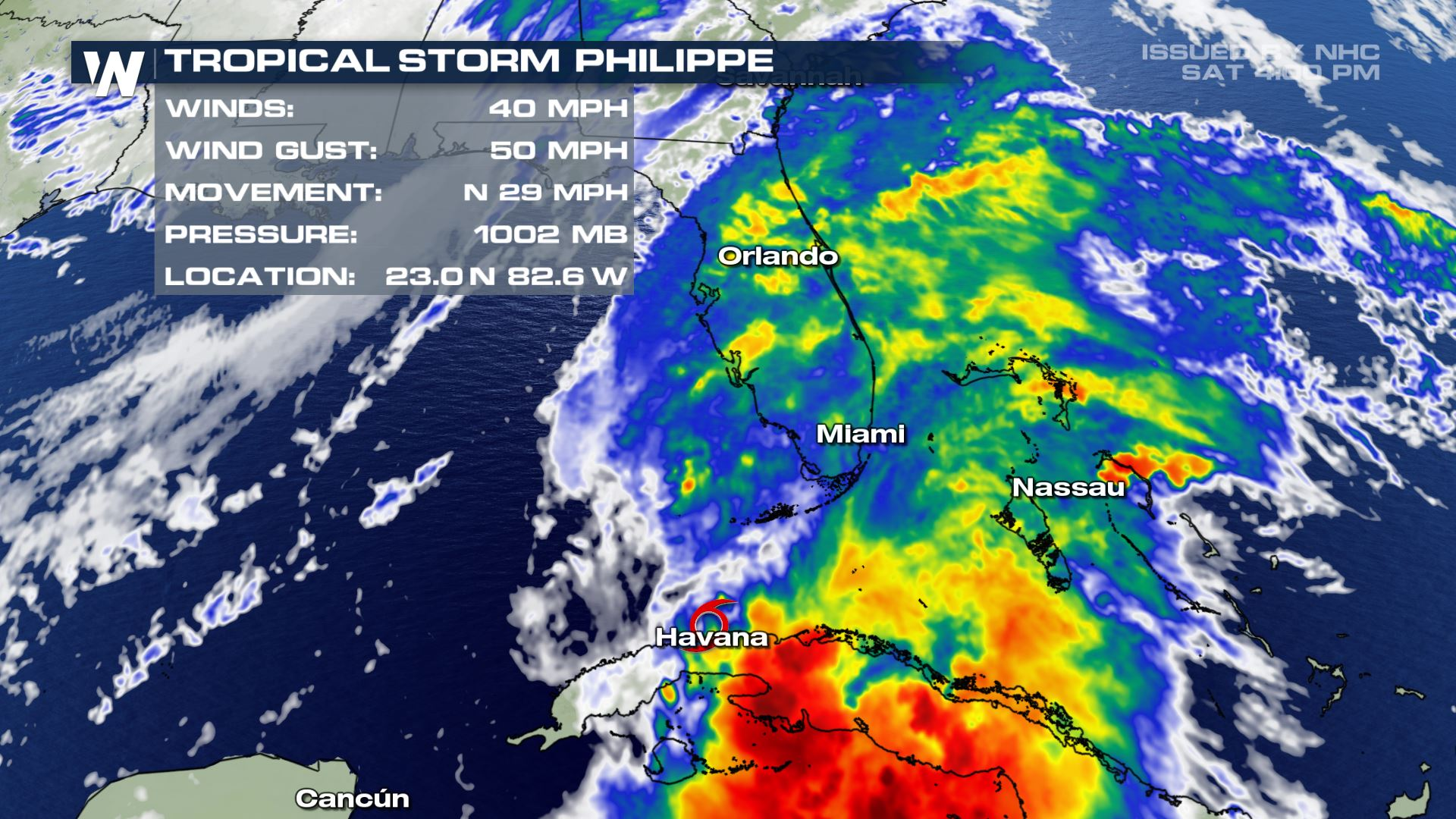 Tropical Storm Philippe Moves Toward South Florida