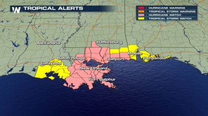 Tropical Alerts Issued for Gulf Coast Ahead of Tropical Storm Nate