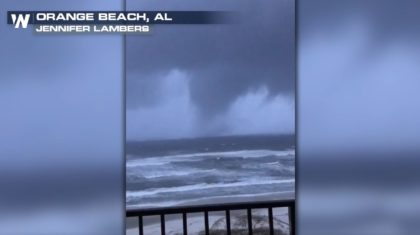 Waterspouts Seen As Hurricane Nate Approaches Gulf Coast