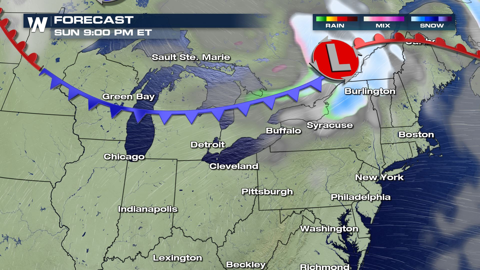 A Parade of Cold Fronts Through The East