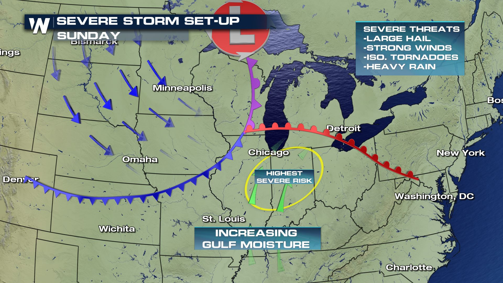 Severe Weather For The Upper Great Lakes And Ohio Valley On Sunday