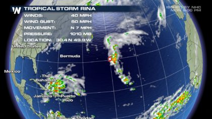 Tropical Storm Rina Forms in the Atlantic