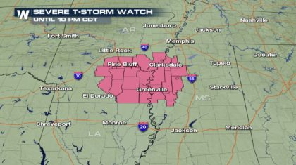 Severe Thunderstorm Watch Issued For This Evening