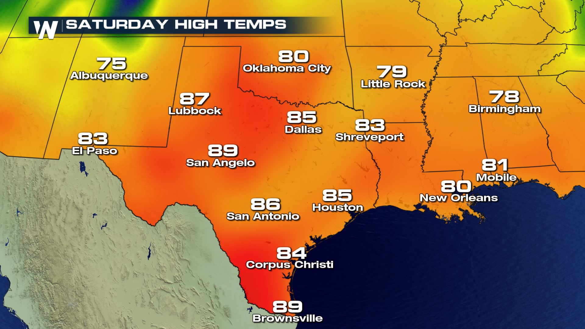 Warmer Than Normal Temperatures in the South Thursday and