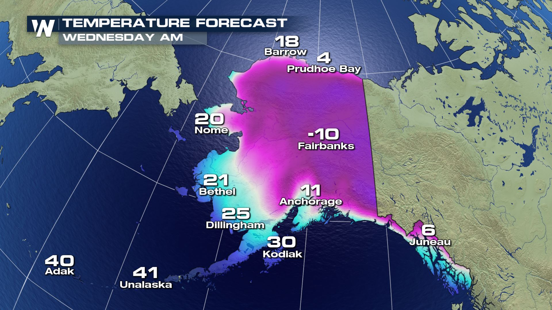 Extreme Cold In The Forecast For Alaska Next Week
