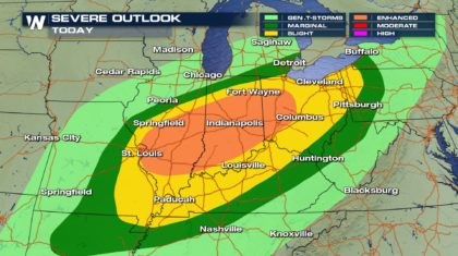 Severe Storms Threaten the Midwest