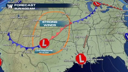 Windy Weather for the Southern Plains this Weekend