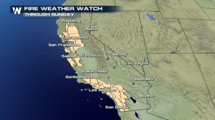 Fire Weather Alerts Extended in California