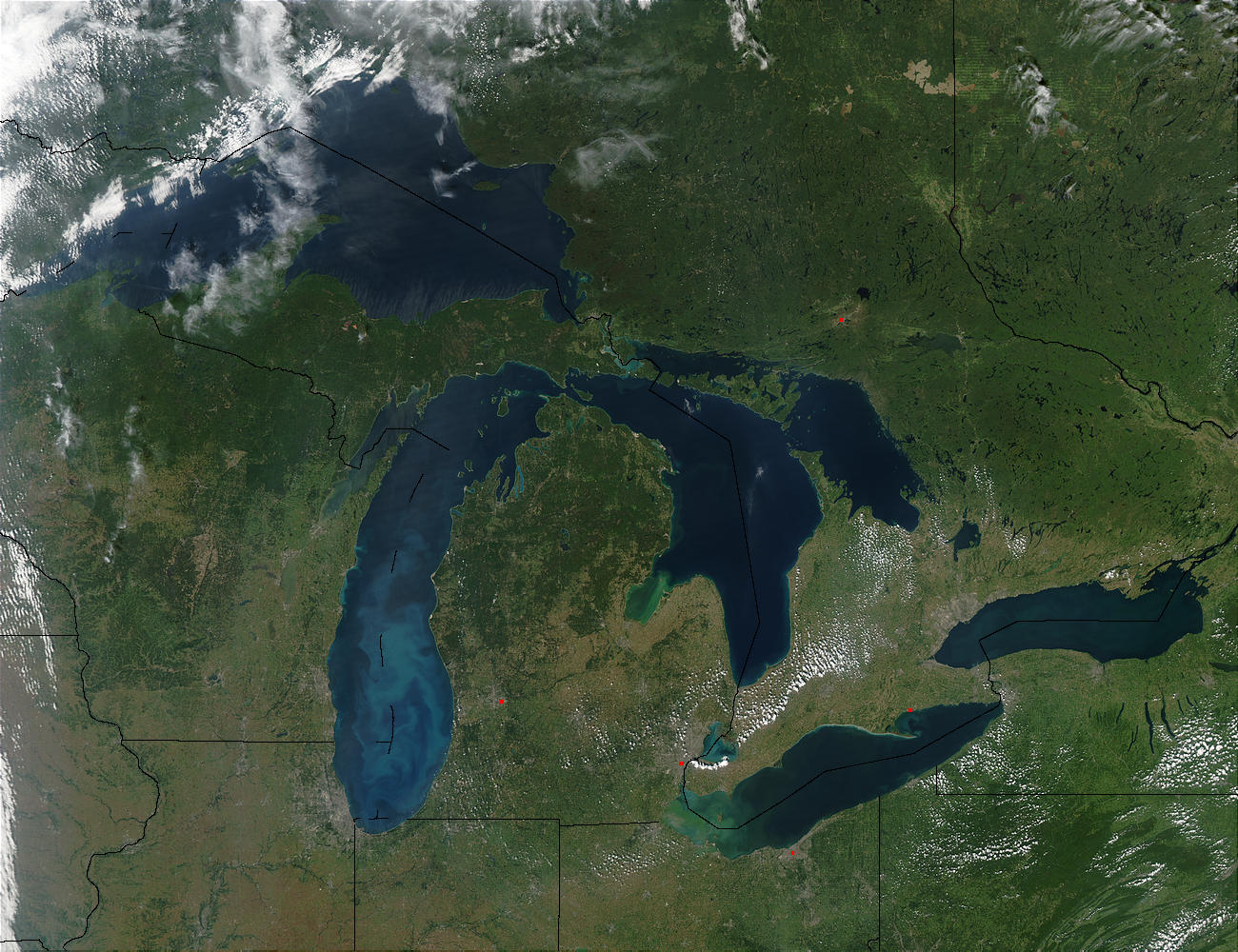What's the Ice Coverage on the Great Lakes?
