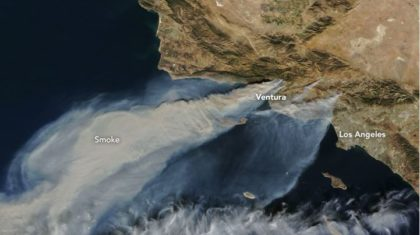 California Fires from Space