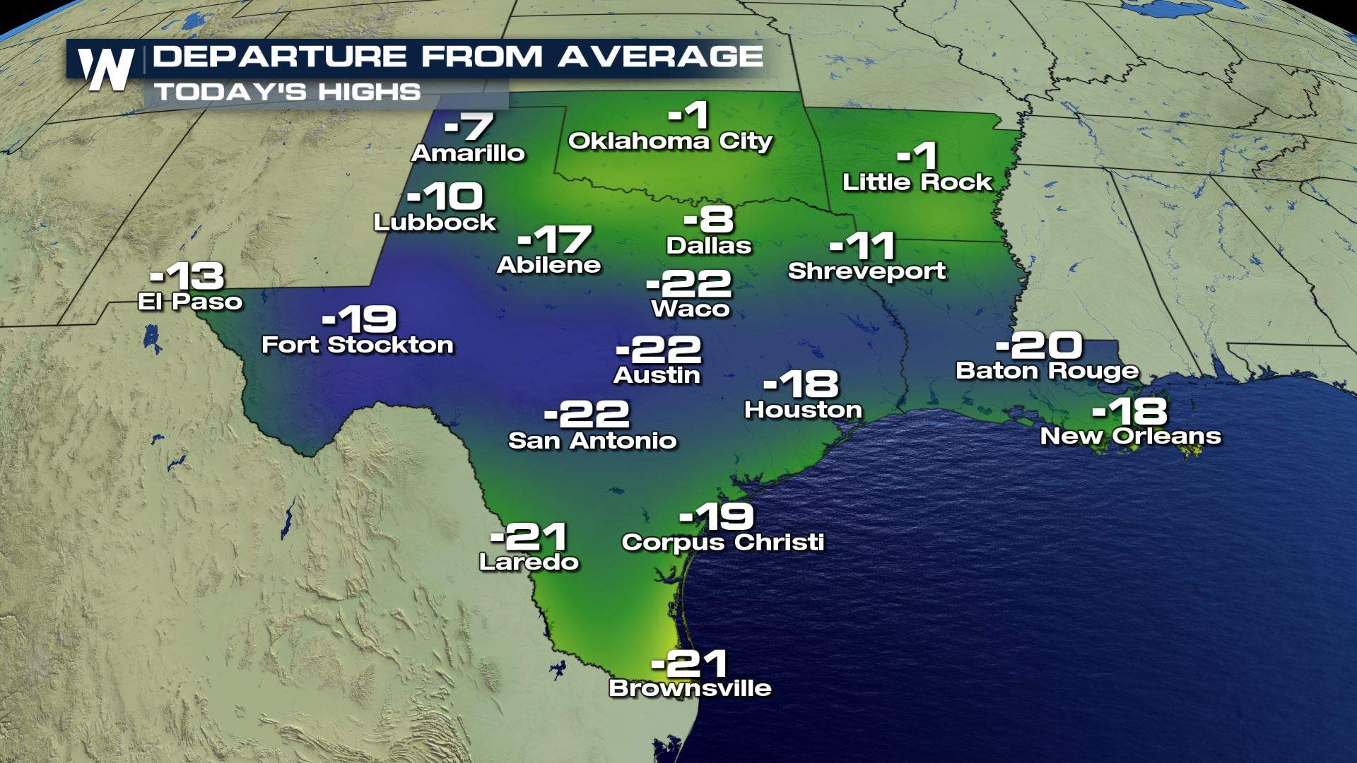 Well below normal temperatures for the south wednesday weathernation gumiabroncs Gallery