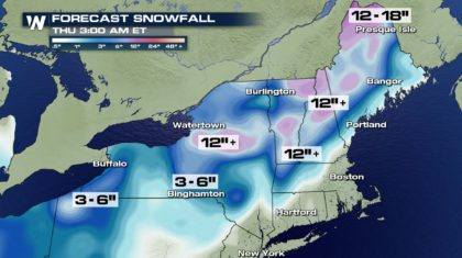 Heavy Snow for the Northeast Tuesday