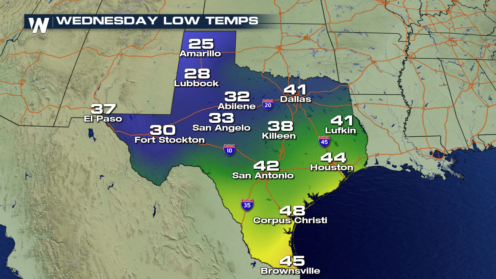 Texas Weather Map Forecast.Increasing Snow Chances For West Texas Weathernation
