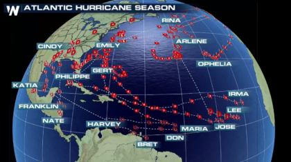 Extremely Active 2017 Atlantic Hurricane Season Finally Ends