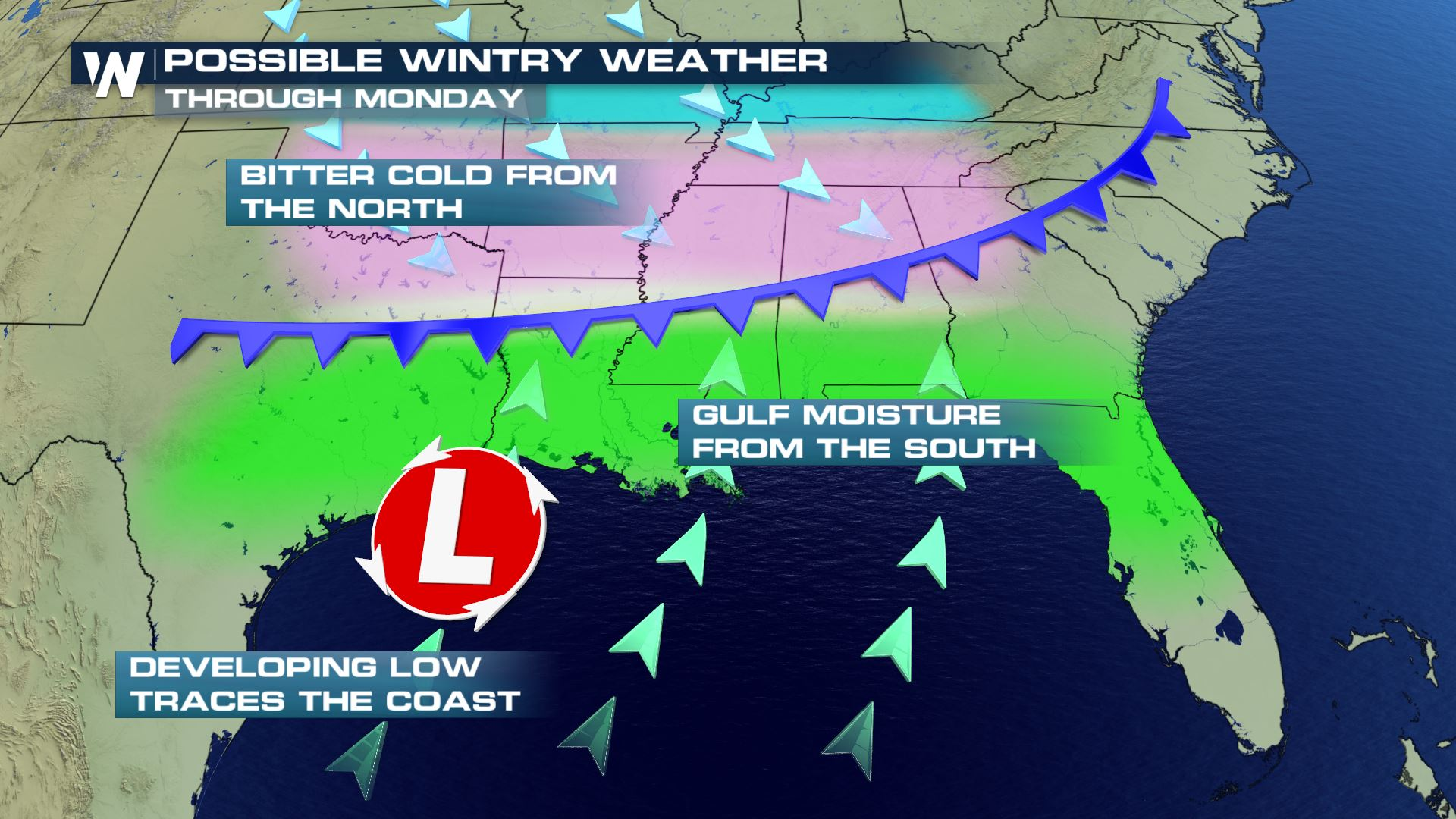 Winter Mix Possible in the South