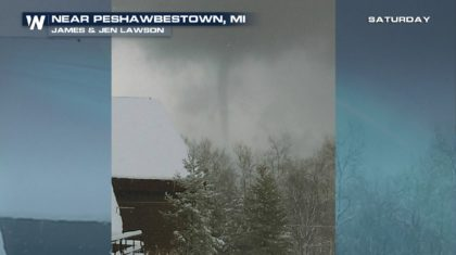 Rare Winter Waterspout Spotted in Michigan