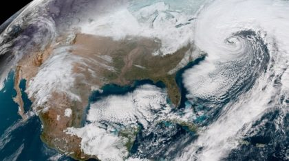 Great Satellite Views of Winter Nor'easter