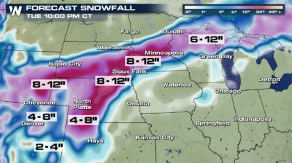 Latest Snowfall Forecast for the Ongoing Winter Storm