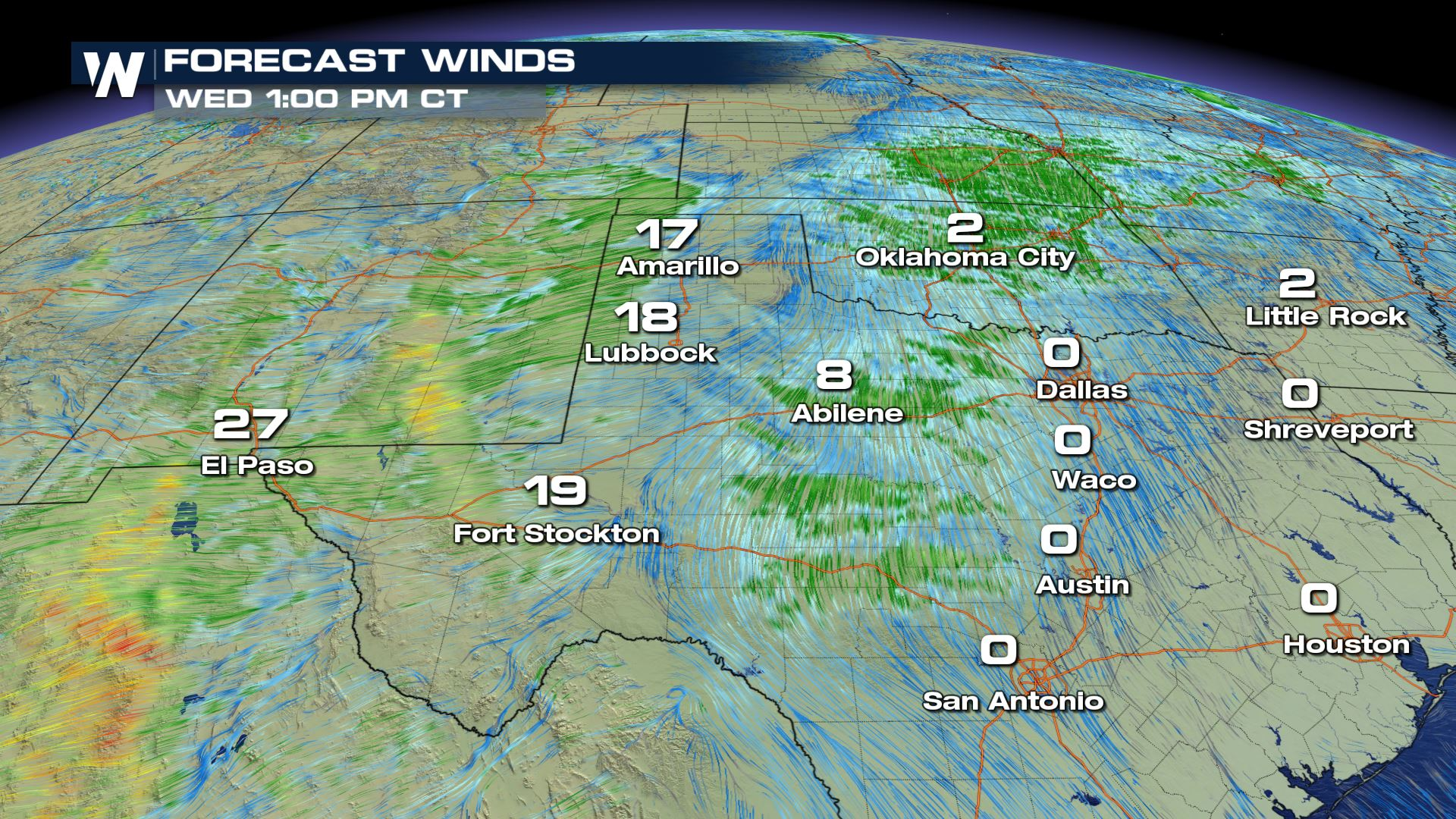 High Winds For New Mexico And Texas Wednesday Weathernation