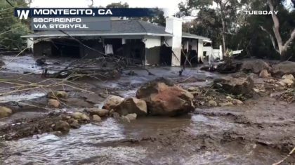 Above Average Rainfall and Winter Storms Bring Destructive Mudslides to California