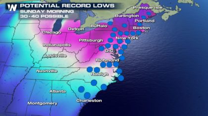 Cold Update: Records to be Broken Tonight