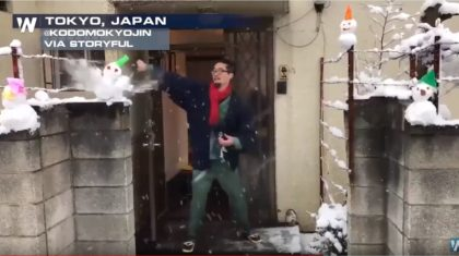 VIDEO: Man Destroys Snowmen With Sword