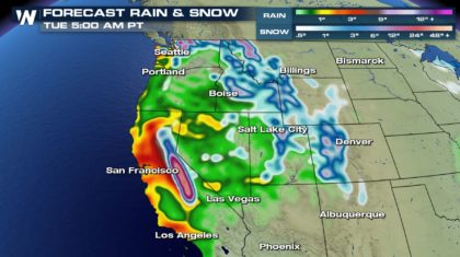 Significant System Forecast For The West