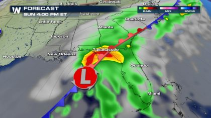 Sunday Soaker for the Southeast
