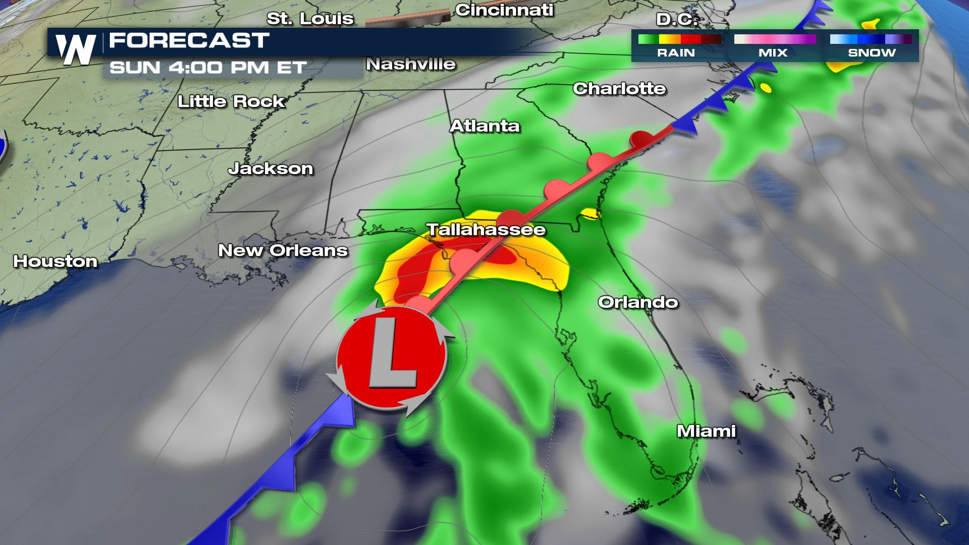Weather For Sunday : Sunday soaker for the southeast weathernation