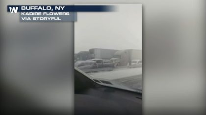 Multi-Car Crash in Blizzard Conditions Shuts Down Interstate in Buffalo, New York