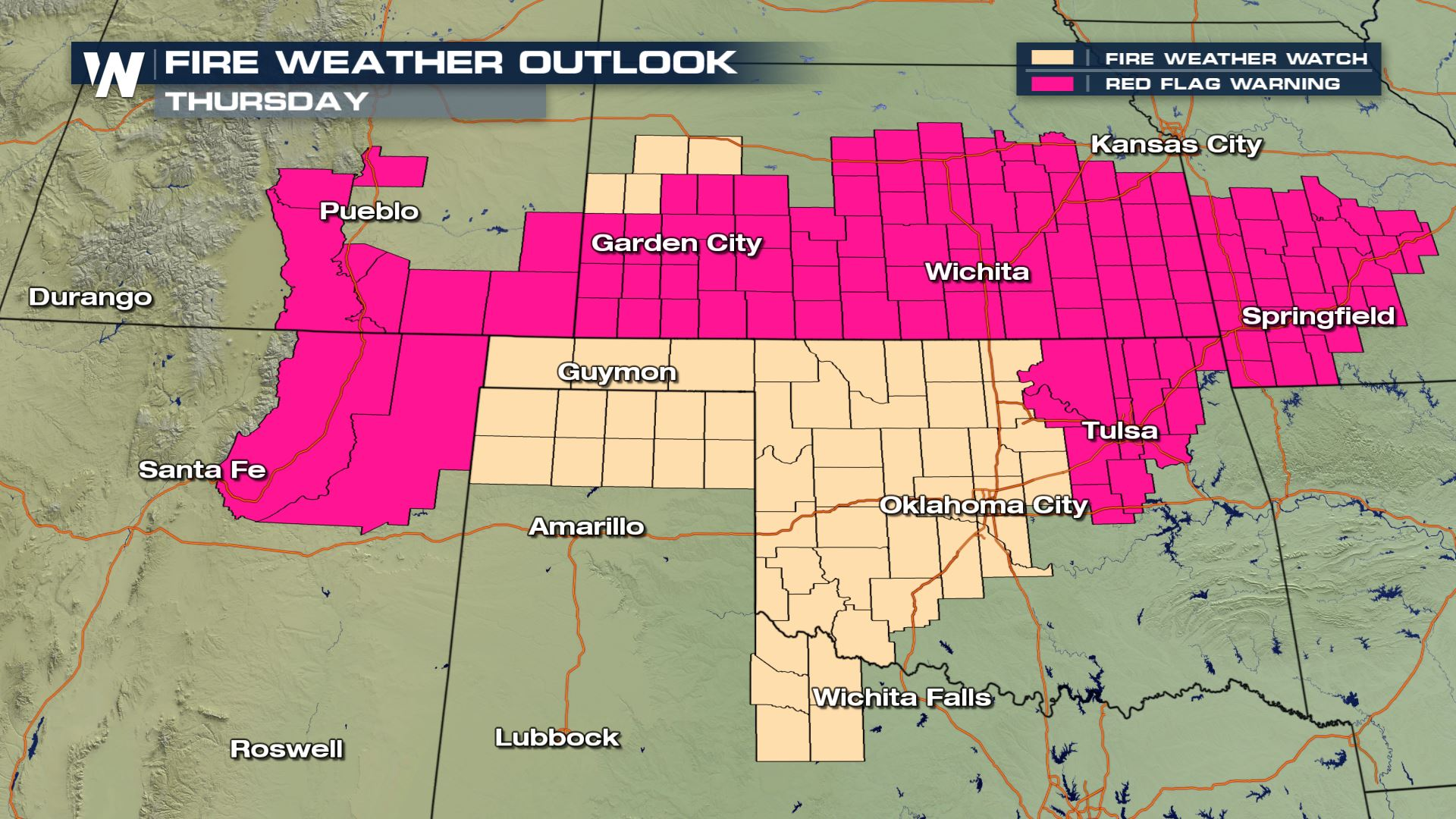 Wildfire Risk for the Central and Southern Plains - WeatherNation