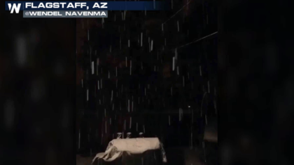 First Snow in Flagstaff of the Season with More Snow Ahead in the West