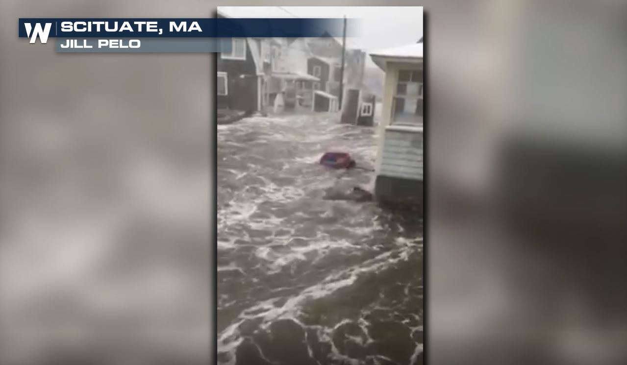 Ocean Floods Massachusetts Town After Seawall Breaches During Nor'easter