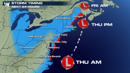 Nor'easter Brings Snow to Florida, Blizzard Conditions to the Northeast